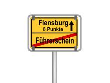 Flensburg 8 Punkte Straßenschild