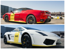 Systemtext folierar fräsiga sportbilar till Hertz Supercars
