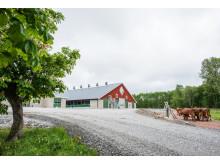 Nya ladugården på Gäddeholm