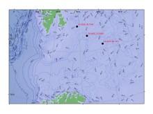 Kart over studieområde snøkrabbetokt