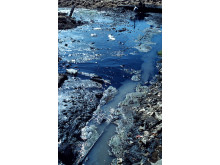 Förorenat vatten i Pakistan.