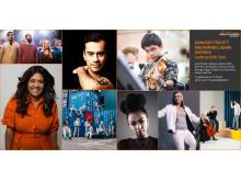 Artister som uppträder under Konsert för ett medmänskligare Sverige