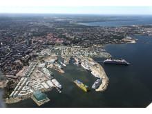 Översiktsillustration över Tallinns hamn