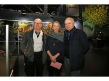 Wolfgang Georgsdorf, Julia Stoess und Yadegar Asisi im Panometer Leipzig