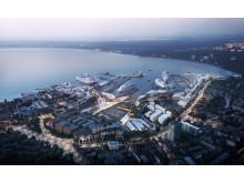 Nya hamnen i Tallinn - kvällsbild