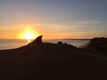 Solnedgång med synvilla