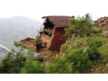 Förstörda hem efter jordbävning i Nepal