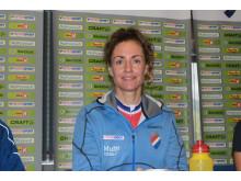 Gunn-Rita Dahle Flesjå under pressekonferanse VM 2014