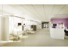 Danderyds sjukhus - ny akutvårdsbyggnad - plan 5 (pre- och postoperativ avdelning)