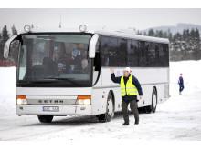Bussar förbättrar Vasaloppets trafikflöde