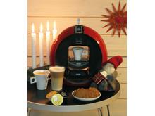 Delongi - kaffemaskin med kapslar - julbild