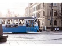 Spårvagnslinje 7 vid Drottningtorget i Göteborg