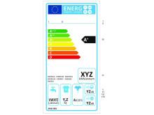 Energimärkningsetikett för tvättmaskiner