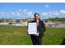 Cecilia Larsson tog emot priset på NSR-dagen den 8 maj 2015