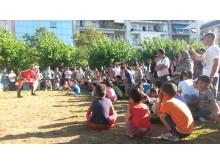 Clowner utan Gränser i Grekland, juni 2015