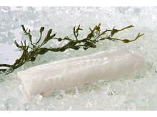 Norwegian Skrei cod filet on ice