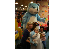WORLD BOOK DAY: Youngsters at Balderstone Library meeting Bookstart Bear