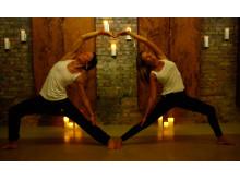 Hot yoga på Hagabadet