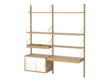 SVALNÄS, vægmonteret arbejdspladskombination, 150x35x176 cm, 2.220.-
