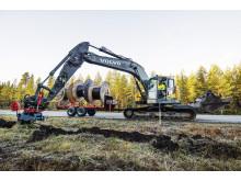 Volvo ECR235C i arbete - Aspsjö Entreprenad (bild 1)