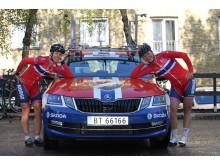 Moe og Gullikssen under sykkel-EM 2017