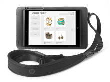 HP 8t Retail Jacket with Tablet and Shoulder Strap, front facing