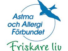 Astma- och Allergiförbundets logotype med devis Friskare liv