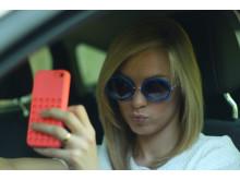 Mobil i bil selfie DSFL