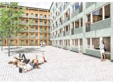 08 Fäboden_illustration_ - Gårdsvy 1 gröna paneler 300 dpi