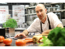 Johan Lilja är kökschef för West Coast, restaurangen som är först ut att testa CarbonAte på Svenska Mässan och Gothia Towers.