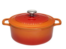 Chasseur - Gryta runt 4,0 L Orange (Cream insida)