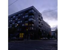Bild 1. Fox Design belysning till kv. Kappseglingen i Hammarby Sjöstad.