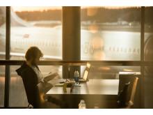 Resenär vid Stockholm Arlanda Airport