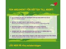 Fem argument för rätten till abort