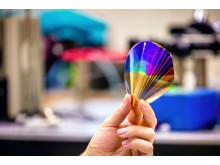 Flexibel polymerbaserad färgskärm