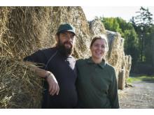 Pär och Ebba, KRAV-bönder. Foto KRAV