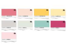 Trend 15 Färgkarta för väggfärg (pastlar för multifun)