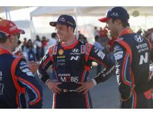 Hyundai på pallen i Rally México.