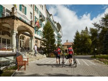 Roadbiker im Swiss Bike Hotel Cresta Palace in Celerina in der Region Graubünden