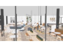 Bild från nya restaurangdelen, Holiday Club Åre