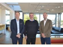 Klas Rewelj, Tore Nilsson och Martin Ålenius