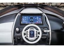 Lexus Sport Yacht förarplats med touchskärm