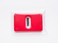 Thumb korthållare-frilagd,röd