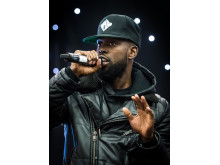 COOL: GHETTS, aka Justin Clarke was a rebel with a cause on Saturday.