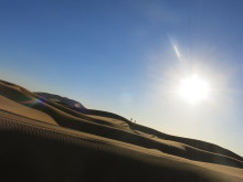 Sahara Desert before sunset