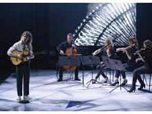 Bisse optrådte sammen med fire strygere fra DR Symfoniorkestret ved Kronprinsparrets Priser 2017