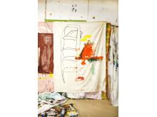 Jarl Ingvarsson, Stairway to Heaven, 2019. Olja på duk, 200 x 100 cm.