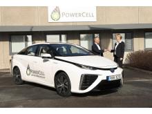 PowerCell får Göteborgs första Toyota Mirai bränslecellsbil
