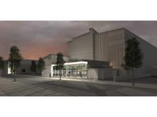Norrlandsoperans nya restaurang, skiss av Sweco.
