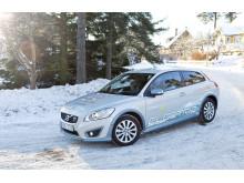 Familjen Lindell kör sin Volvo C30 Electric